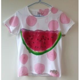 女性Mサイズ☆スイカですよ~♪☆手描きtシャツ☆