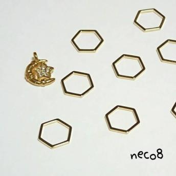 六角形と三日月チャームのセット