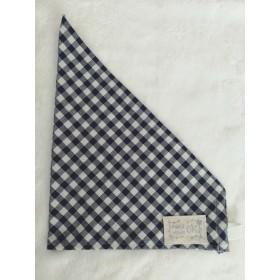 《50㎝》ネイビーのギンガムチェックゴム付き三角巾