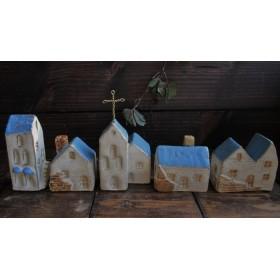 陶器の家 5軒セット トルコブルーの町並