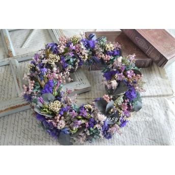 c様へ 2色のリンドウ紫wreath