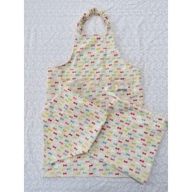 キッズエプロン☆三角巾☆巾着袋SET☆サイズ110〜120