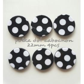 【4pcs】polka dot cabochon 21mm