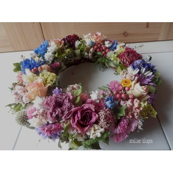 atelier blugra八ヶ岳〜春色小花のガーデンWreath