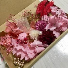 コロンちょ千日紅とヘリクリサムのハーバリウム 花材ドライフラワー 花材セット