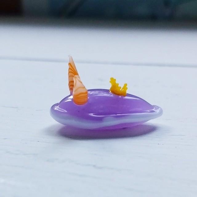 ガラスのウミウシ『シンデレラウミウシ』受注制作
