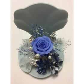 ブルーの貝の器