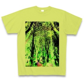 有効的異常症候群幻林◆アート◆文字◆ロゴ◆ヘビーウェイト◆半袖◆Tシャツ◆ライトグリーン◆各サイズ選択可