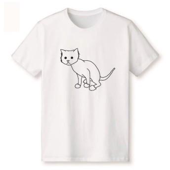 ネコTシャツ 丸刈り