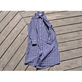 peruvian check shirt onepiece ペルーヴィアンピマ播州織 シャツワンピース