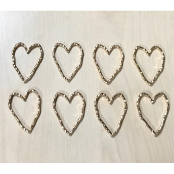 GOLD HEART FLAME HOOP PARTS