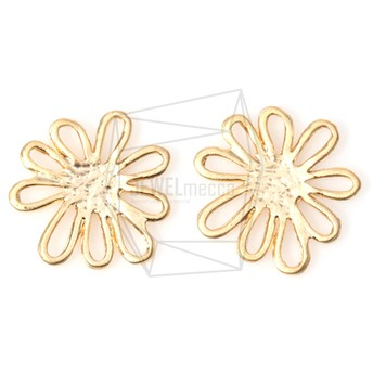 PDT-815-MG【4個入り】ペタルチャーム,Petal Cutout Flower Pendant