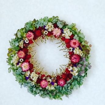 紫陽花&ストロベリーの魅惑のスイーツリース