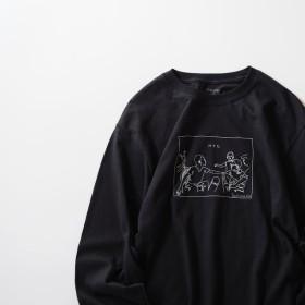NYC ビッグシルエット L/S Tシャツ ブラック