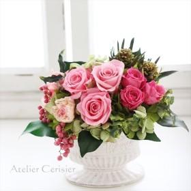 プリザーブドフラワーアレンジメント<ピンク ローズ>#2【母の日】