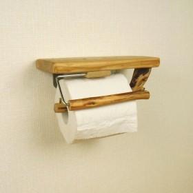 【温泉流木】曲がり枝の流木トイレットペーパーホルダー押さえ付き 流木インテリア