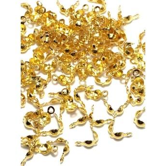 【753】真鍮製ダルマボールチップ ★ゴールド 7mm/100個
