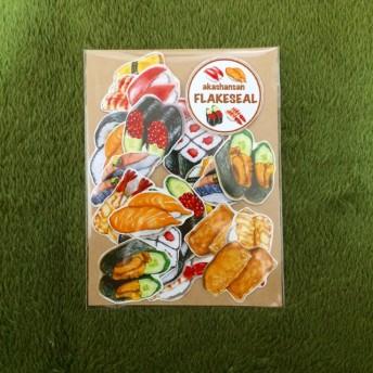 akashansan 食べ物フレークシールお寿司