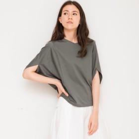 変形トップスドルマンTシャツ【ドライ加工チャコール】/4422012/