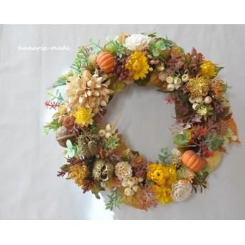 チスパとパンプキン:wreath