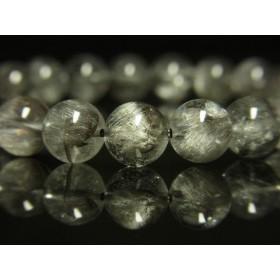 奇跡の鉱物!プラチナルチルクォーツブレスレット 白金水晶数珠 8mm 17g 現品一点物 Pr1