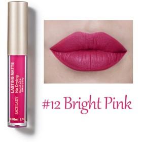 SACE LADY Long Lasting Matte Lip Ink Liquid Lipstick Waterproof Long Lasting 2.5ml.e.0.08 fl.oz (Bright Pink)