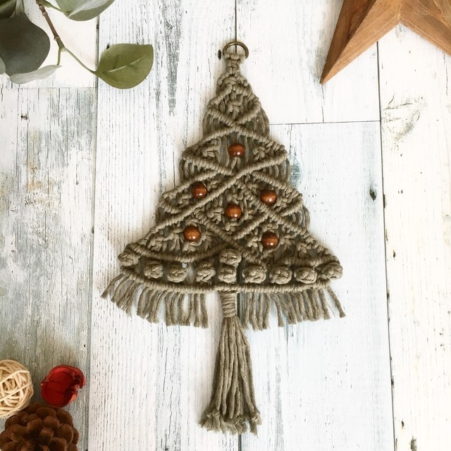 【送料無料】マクラメ クリスマスツリー