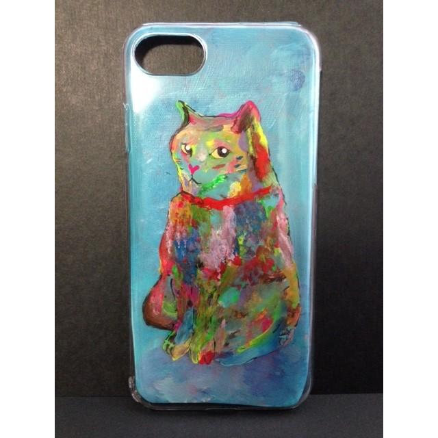 『守り猫』MILKTONE CATシリーズ ブルー iphone スマホ ケース