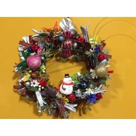 お花屋さんが作った超超特大クリスマスリース 葵の上