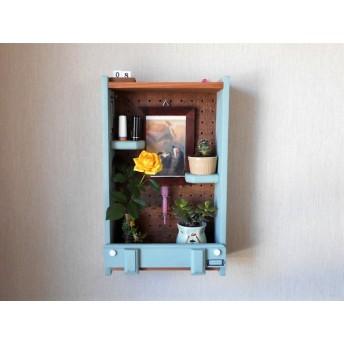 多肉植物や造花の飾り棚 小物飾り棚 ミニラック 2段 棚高さ可変 壁飾り