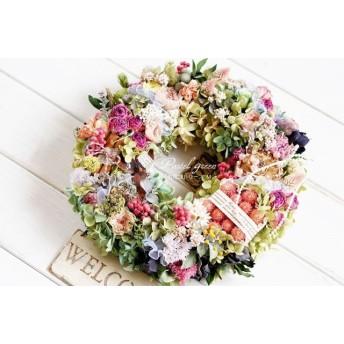 「お花畑」ドライフラワーリース M