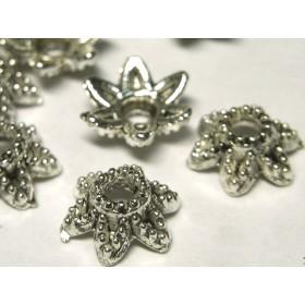 チベタン 座金 フラワーリング 銀古美 約10mm【約100個入り】 6000658