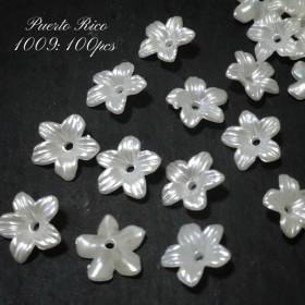 【100個】ミニ パールフラワー ︎花 フェミニン 花弁 小ぶり #1009
