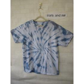 タイダイ染め さわやか~♪なブルーのタイダイ染めTシャツ
