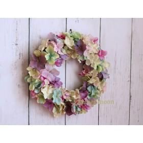 色とりどりのあじさいリース 造花