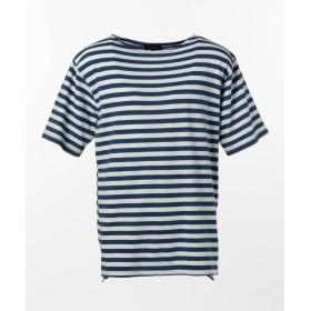 SHARE PARK MENS(シェアパークメンズ)/インディゴボーダー バスク Tシャツ