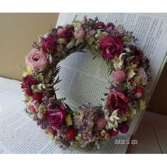 八ヶ岳〜薔薇とラナンキュラスのWreath Ver.5