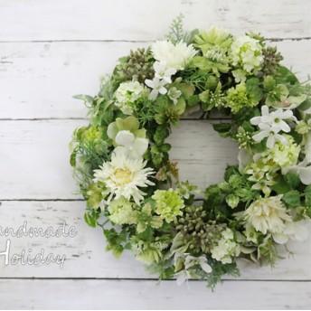 Green & WhiteWreath30