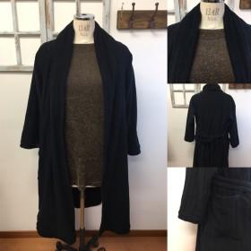 セール価格★男女兼用ガウンみたいな ️タオル素材のジャケットコート(メンズM、レディースL〜LL)
