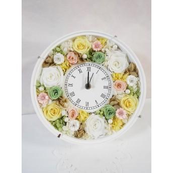 受注制作 色変更などの相談OK アンティーク風 花時計 母の日、ウェディング、新築祝、お誕生日、還暦祝、結婚祝