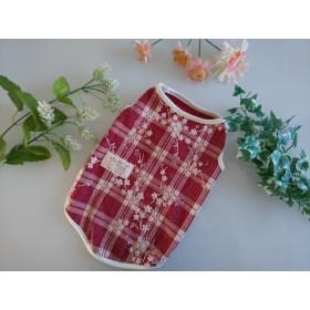 珍しいサイズ★完成品(M)お洒落なニットタンクトップ(赤) 春服