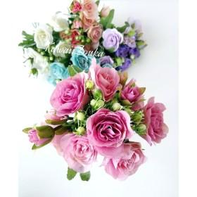 【再販】春の新作☆重なった花びらと蕾が可愛い花ローズ5本セット 造花・アーティフィシャルフラワー
