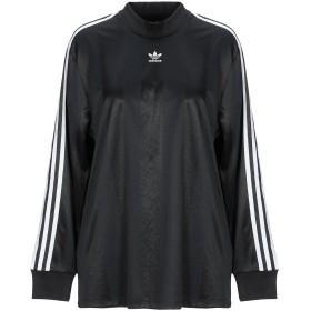 《セール開催中》ADIDAS ORIGINALS レディース T シャツ ブラック 40 ポリエステル 100%
