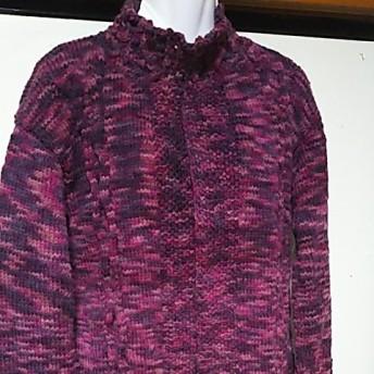 手編みカーディガン 手編みセーター ニット 手編み