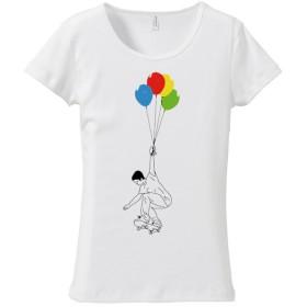 [レディースTシャツ] UP (ブラック&クローム)