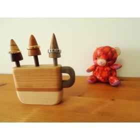 ☆木のコーヒーカップのリングスタンド☆1点もの