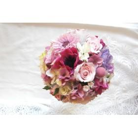 ウエディング・可憐な花々のトスブーケ・結婚式・披露宴・2次会・パーティ・トスブーケなどに。