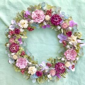 秋紫陽花のナチュラルリース