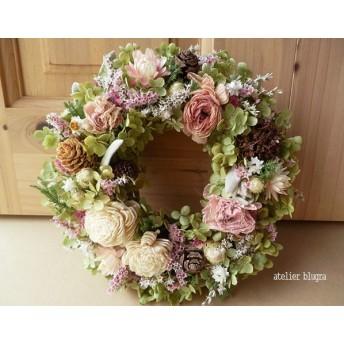 atelier blugra八ヶ岳〜 アナベルと小花のAutumnWreath