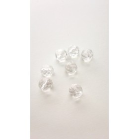 【8mm 10個】64面カット水晶 天然石